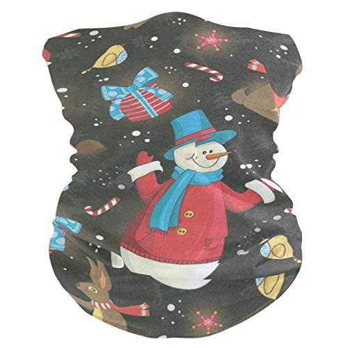 (Christmas Santa Snowmen And Rabbit Headband Womens Bandana Mens Balaclava,Neck Warmer,Face Mask,Tube Facemask)