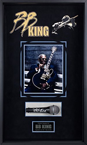 Autographed Microphone Signed (B.B. King - Autographed Microphone Signed in Custom Framed Case)