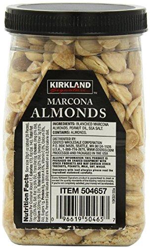 Kirkland Marcona Almonds, Roasted and Seasoned with Sea Salt, 17.63 Ounce(Pack of 2)