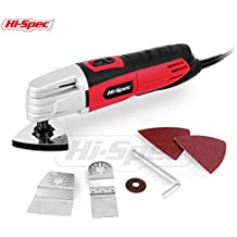 Hi-Spec 2.0A (240w) Oscillating Multi Purpose Oscillating Tool with Variable Speed Switch and Universal Accessories for Cutting, Sanding, Trimming and Removing Flooring – Multi-Function Power Tool