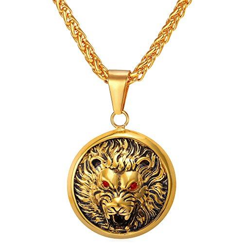 U7 Round Medal Pendant Necklace