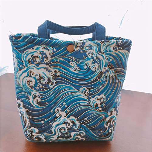 Japanese Style Insulated Lunch Bag Food Tote Bag Folding Cooler Handbag Zabrinay