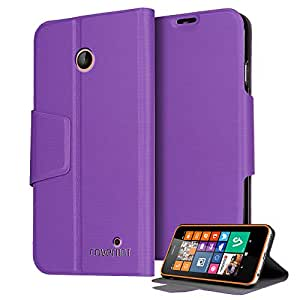 Nokia Lumia 635 Case, CoverBot Nokia Lumia 635 Flip Wallet Case with Stand PURPLE. Slim Style with Folio Flip Cover