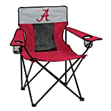 Logo Brands Collegiate Alabama Crimson Tide Elite Chair, Red, Adult