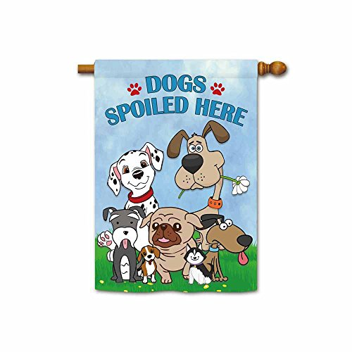(KafePross Cute Dogs Spoiled Here Spring House Flag Funny Puppy Home Decor Banner 28