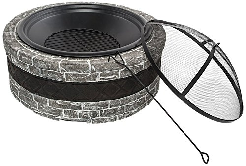 "Snow Joe Sun Joe SJFP35-CS-STN Fire Joe 35"" Charcoal Gray..."