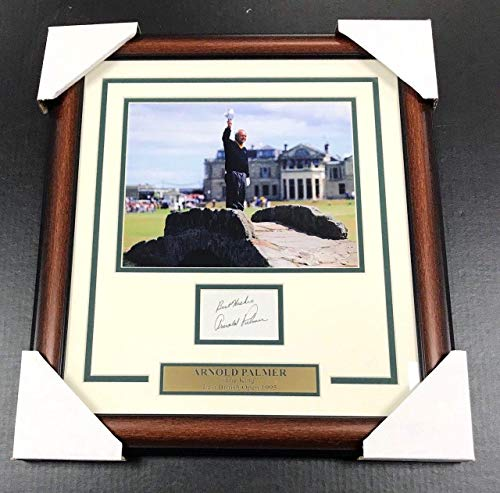 Autographed Arnold Palmer Picture - Index Card W 8x10 Framed Last British Open - JSA Certified - Autographed Golf Photos (8x10 Certified Photo Golf Autograph)