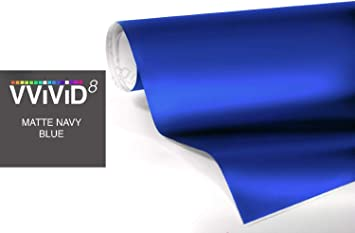 Premium Paint Replacement Film Roll with Diamond Air Release Technology 1ft x 5ft Non-Stretch Protective Cap Liner VViViD+ Kevlar Blue High-Gloss Vinyl Car Wrap Self Adhesive