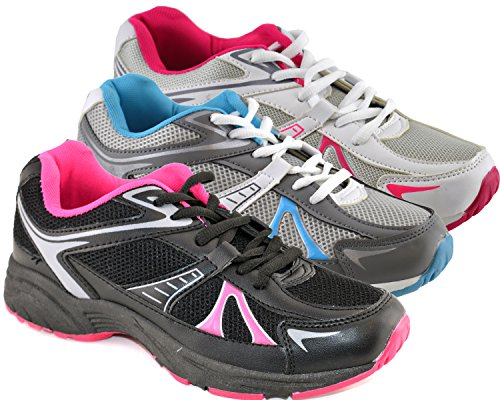 Ascot Womens Synthetic Leather Running Shoes Silver iD4ykkPjdA