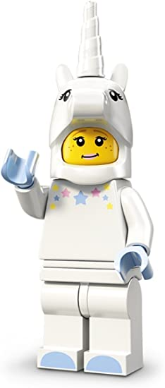 Lego Minifigure Chicken guy playing horn