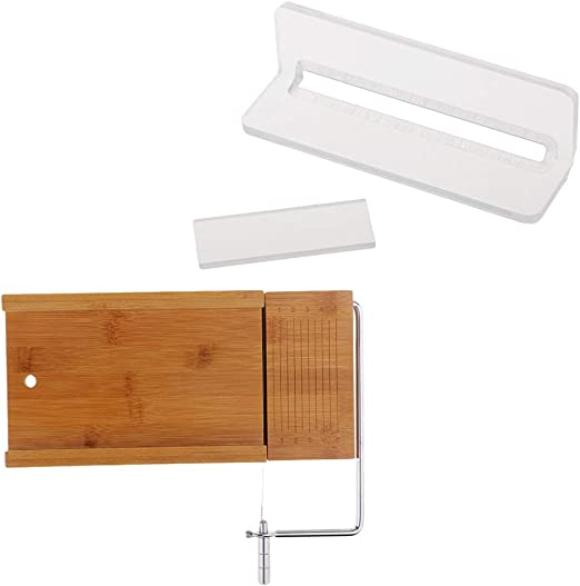 Wooden Board Stainless Steel Soap Cutter Cutting Tools with Wire Slicer
