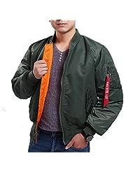 Seibertron Men's MA-1 Bomber Flight Waterproof/Water Repellent Jacket