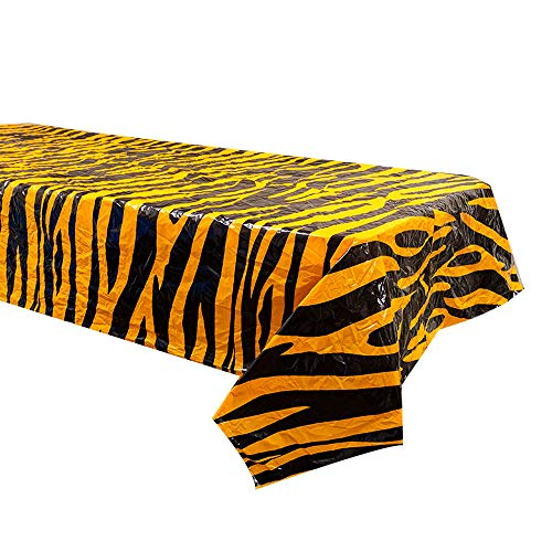 Tiger Stripe Table Covers (2), Tiger Party Supplies, for sale  Delivered anywhere in USA