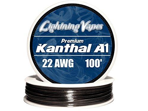 Genuine Lightning Vapes Kanthal 22 AWG A1 Wire 100ft Roll 0.64 mm 1.31 Ohms/ft Resistance