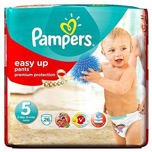 Pampers Easy Up Pants Size 5 Junior 12-18Kg (26)