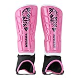 Vizari Malaga Shin Guard, Pink/Black, XX-Small