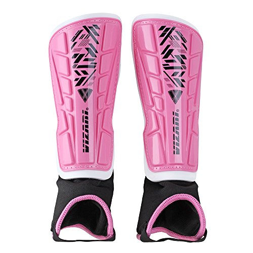 Skate Hockey Outlet - Vizari Malaga Shin Guard, Pink/Black, L-YOUTH/ADULT