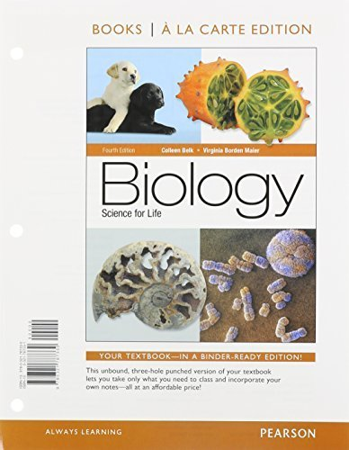 Biology: Science for Life with Physiology, Books a la Carte Edition & Modified MasteringBiology with Pearson eText -