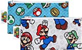 Bumkins Reusable Snack Bag Small 2 Pack, Nintendo, Super Mario Set (Mario/Luigi)