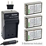 Kastar 3 X BLS-5 Battery and Charger Kit for Olympus BLS5 PS-BLS5 and Olympus E-PL1 E-PL2 E-PLE15 E-PM1 E-PM2 E-M10 OM-D E-400 E-410 E-420 E-450 E-600 E-620 E-P1 E-P2 E-P3 E-PL6 E-PL5 stylus 1 Cameras