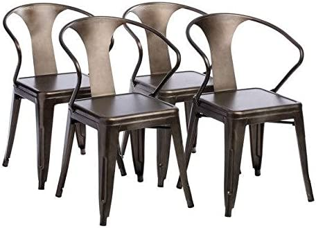 Tabouret Stacking Chair Set of 4 . This Set Of Dining Room Chairs Is Perfect For Adding A Vintage Look To Your Home. Crafted