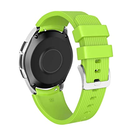 NotoCity 22mm Watch Band Compatible Samsung Galaxy Watch 46mm Soft Silicon Watch Bands for Samsung Gear S3 Smartwatch for Man Women(Green, Large)
