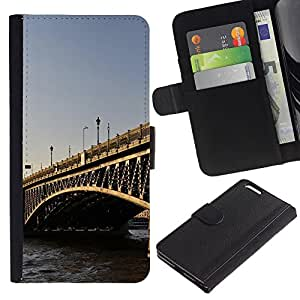 KingStore / Leather Etui en cuir / Apple Iphone 6 PLUS 5.5 / Arquitectura Puente de Londres