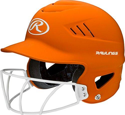 Orange Softball Batting Helmet - 3