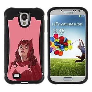 Suave TPU GEL Carcasa Funda Silicona Blando Estuche Caso de protección (para) Samsung Galaxy S4 IV I9500 / CECELL Phone case / / red hero woman superhero pink vintage /