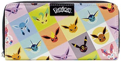Cartera de Pokemon Eevee evolución Umbreon Jolteon Negro: Amazon.es: Equipaje