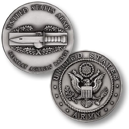 Combat Action Badge Challenge Coin Action Coin