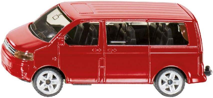 Siku 1070 VW Multivan - Furgoneta miniatura (escala 1:64), color rojo