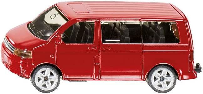 Siku 1070 VW Multivan - Furgoneta miniatura (escala 1:64), color rojo: Amazon.es: Juguetes y juegos