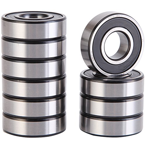 XiKe 10 Pack 6203-2RS Precision Bearings 17x40x12mm, Rotate Quiet High Speed and Durable, Double Seal and Pre-Lubricated, Deep Groove Ball Bearings.