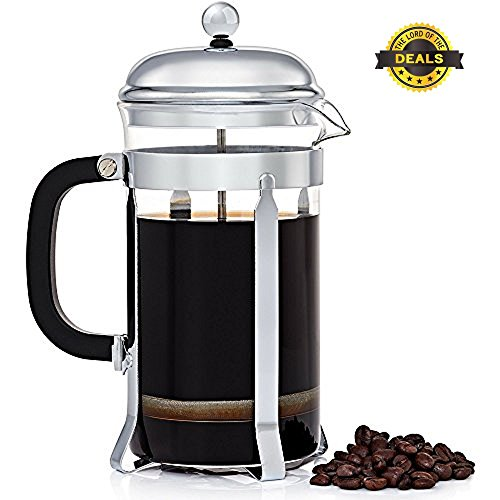 The Lord of the Deals - Stainless Steel French Coffee Press 8 Cup (1 liter, 34 oz)