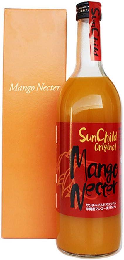 マンゴーネクター 720ml×1本 サンチャイルド 沖縄県産果汁 50% 無添加