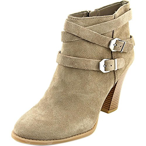 INC International Concepts Womens Jaydie Suede Round Toe Ankle Cowboy Boots Warm Taupe