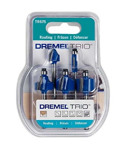 Dremel TRIO Straight Router Bit Set (3 Pieces) 2615T673JA