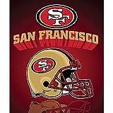 NFL Officially Licensed San Francisco 49ers Gridiron Series Fleece Throw Blanket