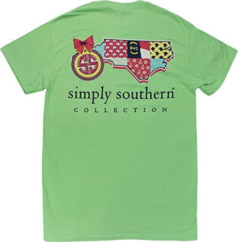 Simply Southern Tees Short Sleeve Preppy North Carolina Small Mint