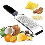 Cheese Grater Zester with Protective Cover Professional Razor Sharp Blades Ideal for Kitchen Vegetable Chocolate Fruit Fine Zesting Supreme Stainless Steel Shredder