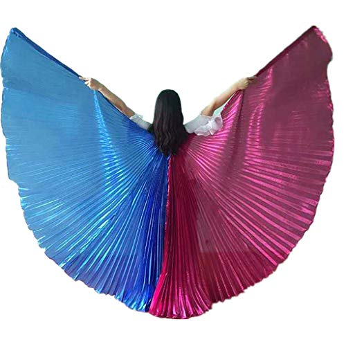 2018 Adult Exotic Double-Color Angel Belly Dance Isis Wings Best