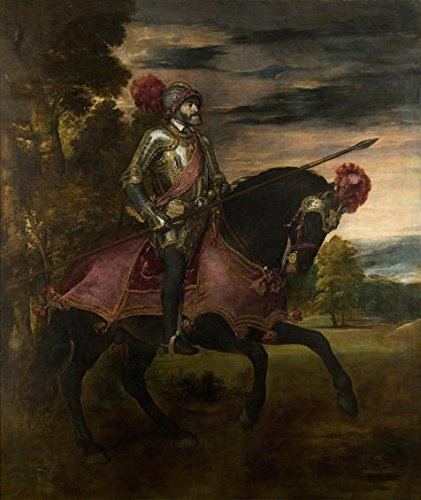 Oil Painting 'Titian-Emperor-Carlos V On Horseback,1548', 16 x 19 inch / 41 x 48 cm , on High Definition HD canvas prints is for Gifts And Bath Room, Bed Room And Nursery Decoration, sale