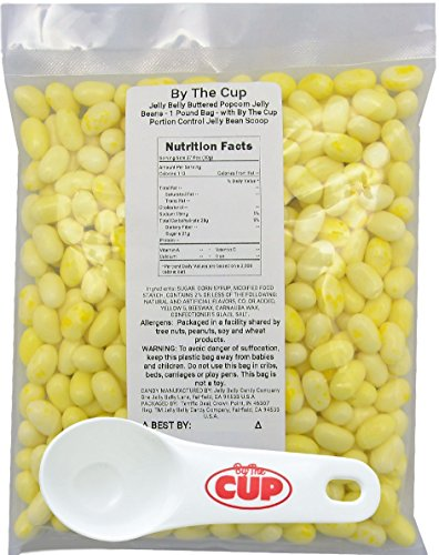 Jelly Belly Jelly Beans - Buttered Popcorn 1 Pound Bag - wit