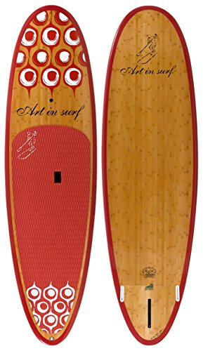 Art in Surf Da Fun Paddle Board, 10' x 33'' x 5'' /180 L, Red by Art in Surf (Image #1)