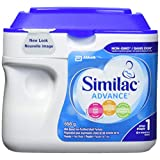 Similac Advance Step 1 Non-GMO Baby Formula, Powder, 658 g, 0+ Months