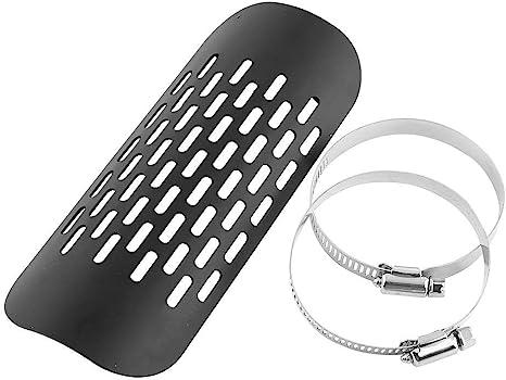 argento dritto grano Marmitta silenziatore di scarico moto tubo di scarico scarico scudo termico Paracalore scarico scudo termico per moto
