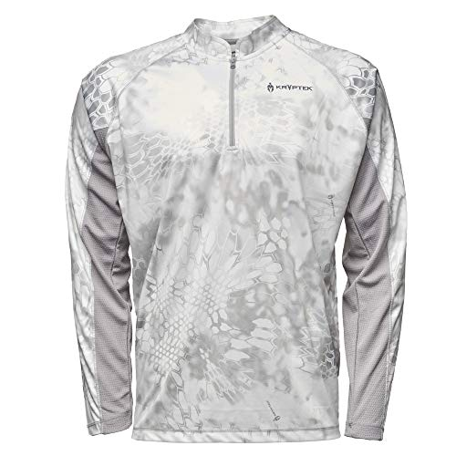 Kryptek Zephyr Long Sleeve 1/2 Zip Camo Hunting & Fishing Shirt (K-Ore Collection), Wraith/Wolf Grey, ()