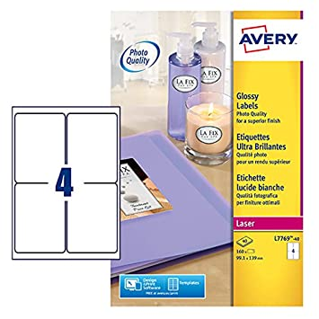 amazon com avery addressing labels colour laser 4 per sheet 139x99