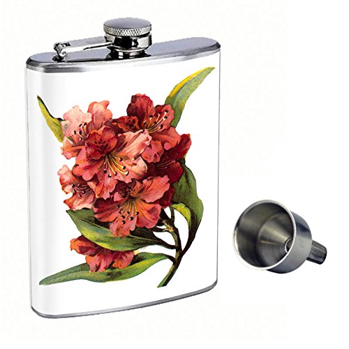 高級素材使用ブランド Vintage B016XLZD1U Flowers Vintage Perfection In Style 8oz Stainless Funnel Steel Whiskey Flask with Free Funnel D-011 by Perfection In Style B016XLZD1U, 純金PRIMAGOLDオフィシャル店:908188c8 --- senas.4x4.lt